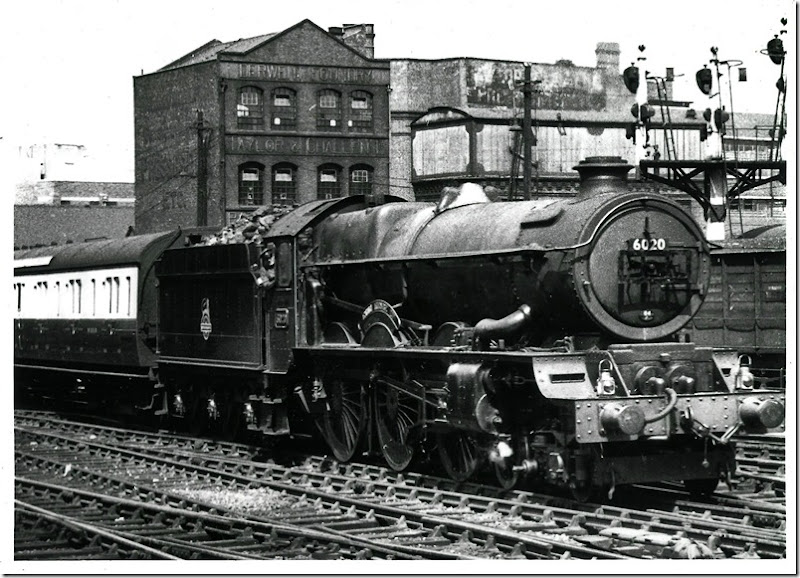 driver wp chester bringing 6020 king henry iv into birmingham snow hill with a wolverhampton - paddington express