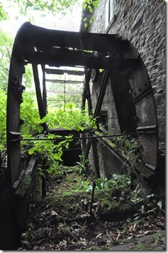 second derelict waterwheel at disused watermil 2l