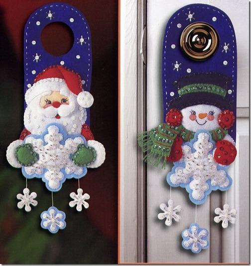 Peques y pecas adornos de navidad para las puertas - Adornos navidenos para puertas ...