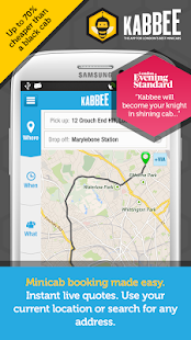 Kabbee - book London minicabs - screenshot thumbnail