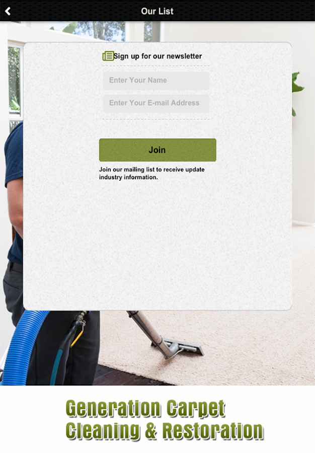 Generation Carpet Cleaning- screenshot