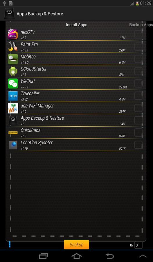 Apps Backup & Restore- screenshot