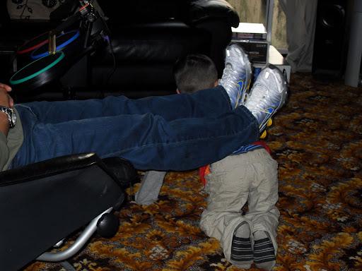 Human footstool