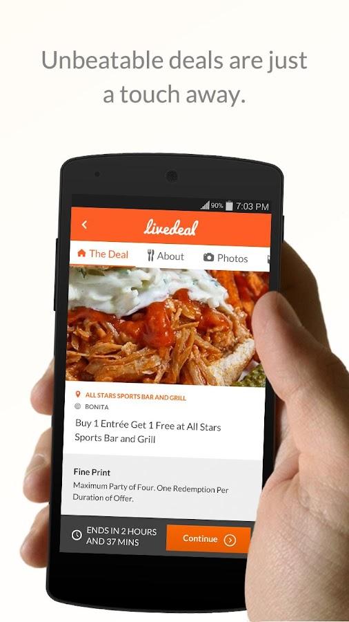 LiveDeal - Restaurant Deals- screenshot