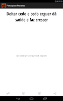 Screenshot of Portuguese Proverbs