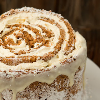 Pumpkin Roll White Chocolate Cake