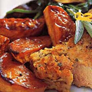 Roasted Sweet Potatoes with Honey Glaze.