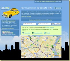 Taxi Me–Calculate your trip cost in Montreal ~ Montreal