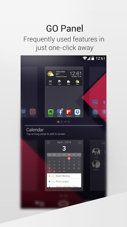 GO Launcher EX-free theme,fast - screenshot