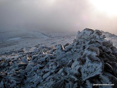 Dove Crag summit cairn