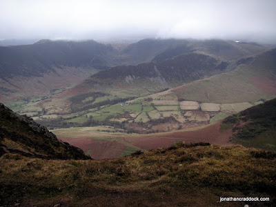 View from Causey Pike towards High Spy and Dale Head
