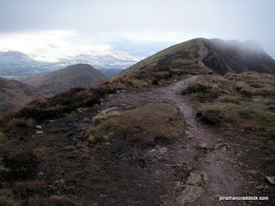 Causey Pike from below Scar Crags