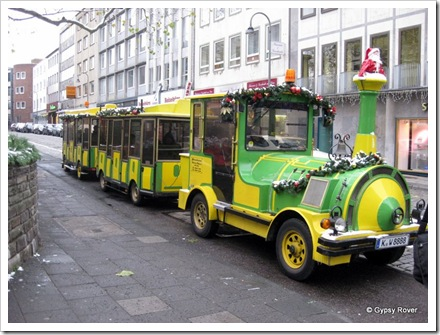 Cologne's sight seeing train.