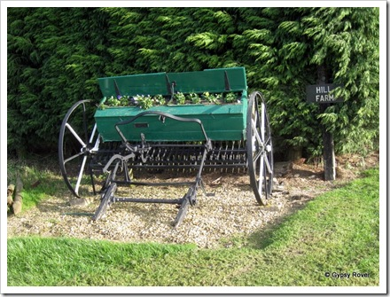 Novel use of an old seed drill.