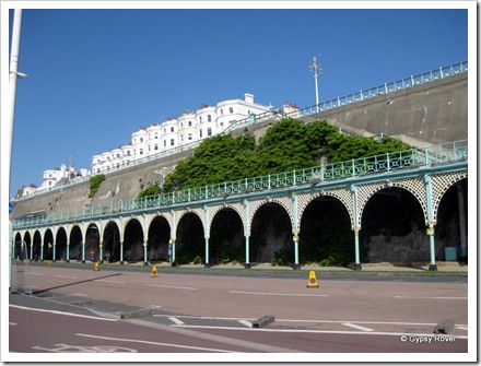 Cast iron arches along Brighton's waterfront.