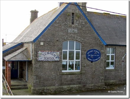 Sennen school, the first school in the land.