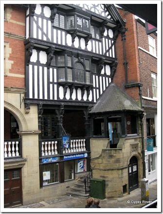 Chester's 19th century Tudor woodwork.