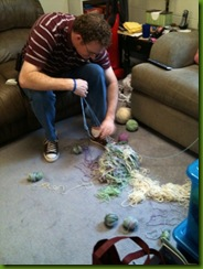 morgan with yarn