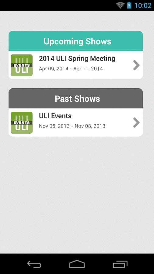ULI Events - screenshot