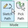 sketching sweep path