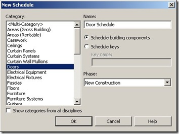 Creating Schedule from Revit Model | CADnotes