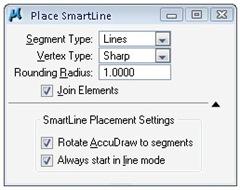 place smartline tool settings