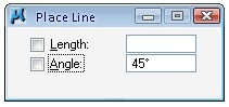 place line tool settings