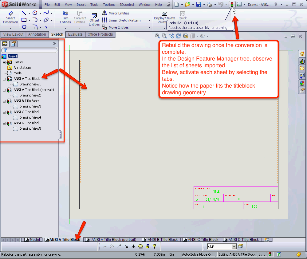 solidworks drawing template tutorial - 01 convert dwg to solidworks drawing template mechanical cad