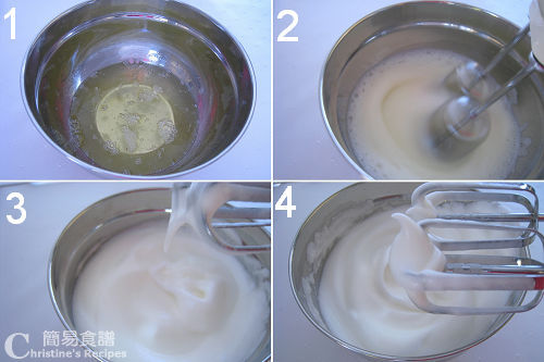 打蛋白霜過程圖 Beat Egg Whites Procedures
