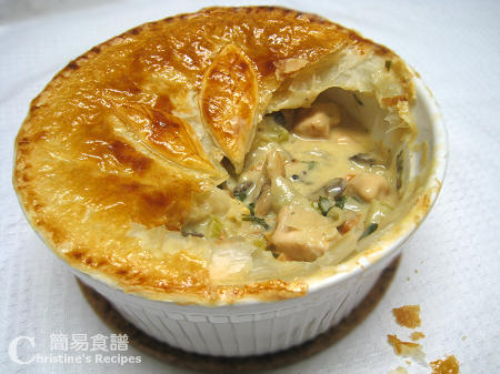 焗蘑菇雞批 Chicken and Mushroom Pie