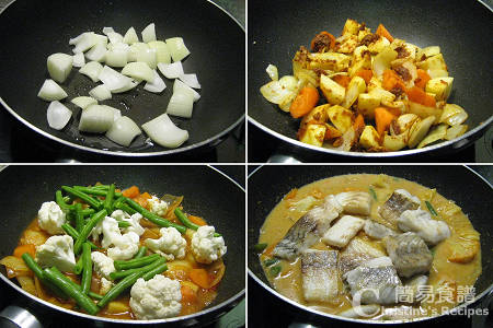 紅咖喱煮魚製作圖 Red Curry Fish Procedures