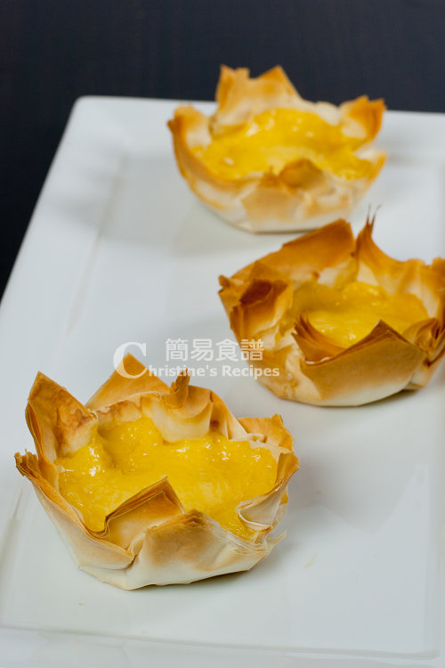 吉士薄片酥皮撻 Egg Custard Pastries01