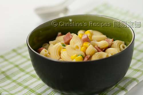 火腿通粉 Macaroni Soup with Ham02