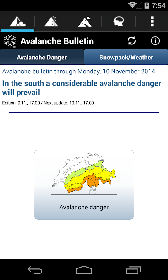 White Risk - SLF Avalanche App- screenshot