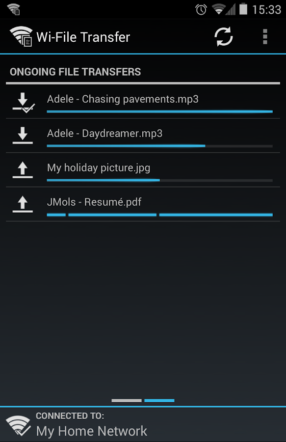 Wi-File Transfer- screenshot