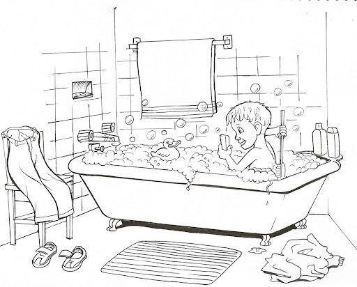 l bath time coloring pages - photo #39