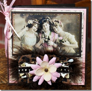 THANK YOU CARD VINTAGE THREE LADIES
