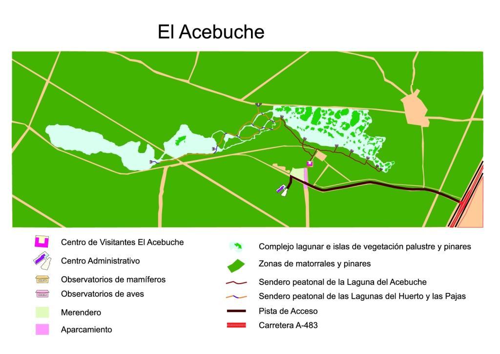 Mapa sendero El Acebuche