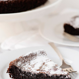 Gluten Free and Dairy Free Chocolate Olive Oil Cake.