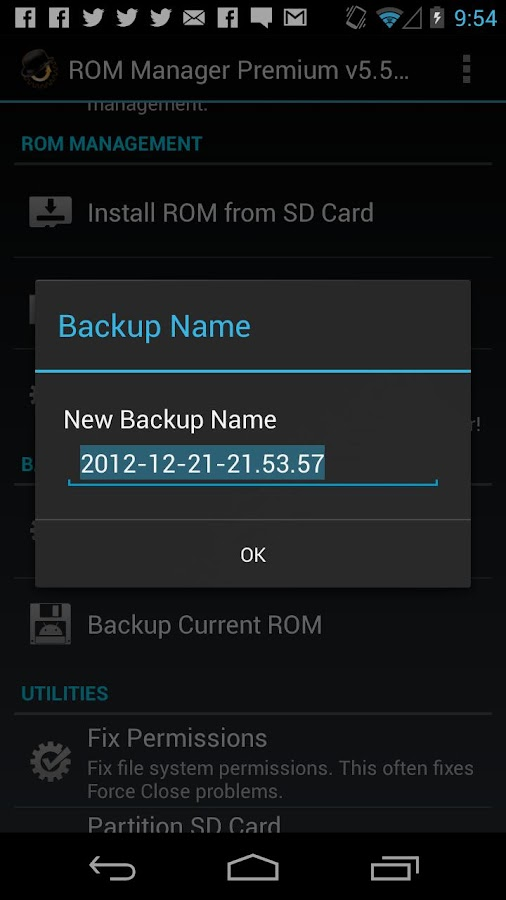 ROM Manager – Screenshot