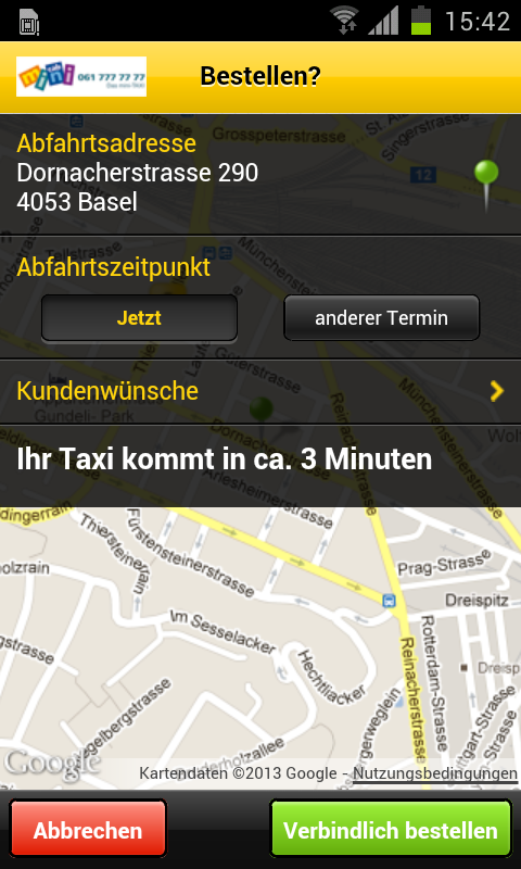 taxi mini cab basel android apps on google play. Black Bedroom Furniture Sets. Home Design Ideas