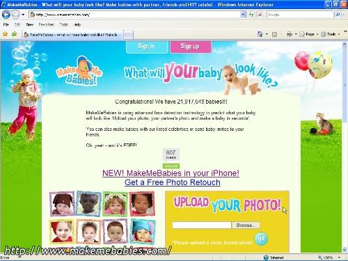 La homepage del sito makemebabies.com