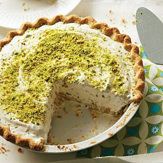 Pistachio Cardamom Ice Cream Pie