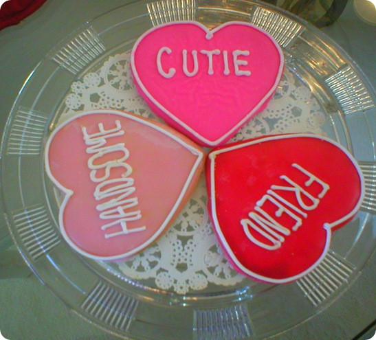 Valentines Day cookies from MQ