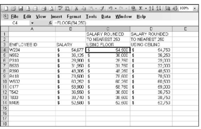 Using Math Functions To Figure Basic Math Answers In Excel