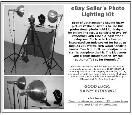 Jazzing Up Your Auctions On Ebay