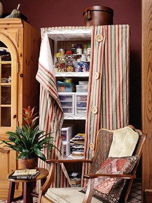Custom Organization Fabric Covered Shelves