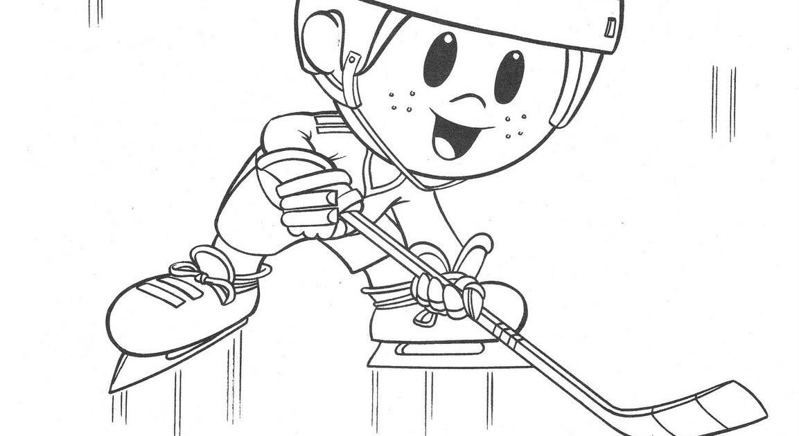 Dibujos Para Colorear Jugador De Hockey: Pinto Dibujos: Jugador De Jockey Para Colorear