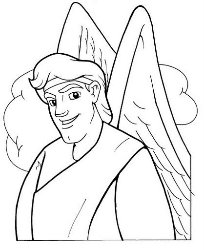 Angel De La Guarda Para Colorear