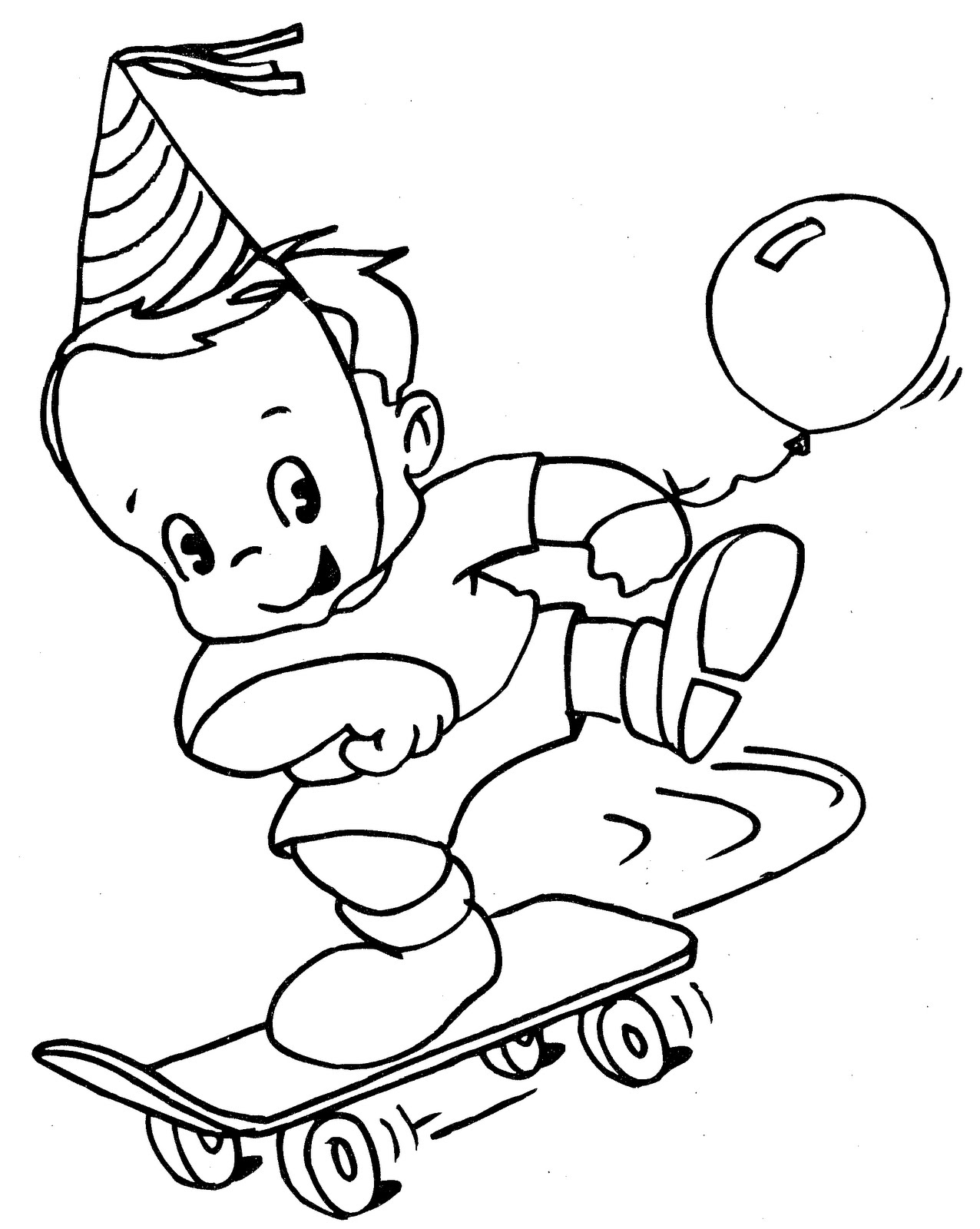 Girl Skateboarding coloring page | Free Printable Coloring Pages | 1600x1276